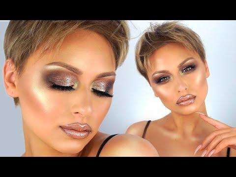 Super Glam Smokey Bronze Eye Makeup Tutorial - Inspired by ByBrookeElle   Alexandra Anele