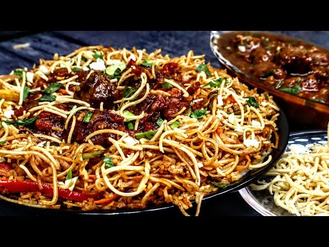 Veg Triple Schezwan Fried Rice Recipe - Schezwan Noodles - Cabbage Manchurian Gravy - Fried Noodles
