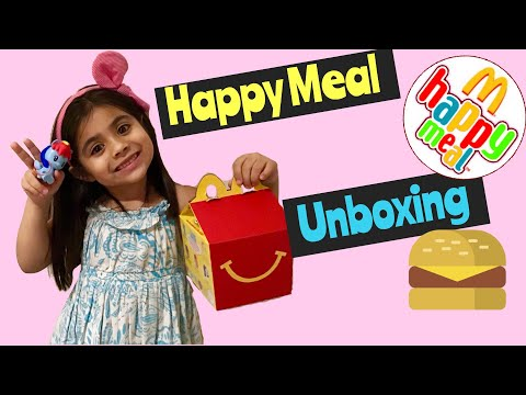 UNBOXING McDONALDS HAPPY MEAL + RAINBOW DASH TOY REVIEW + KRISTELLE SPARKLE