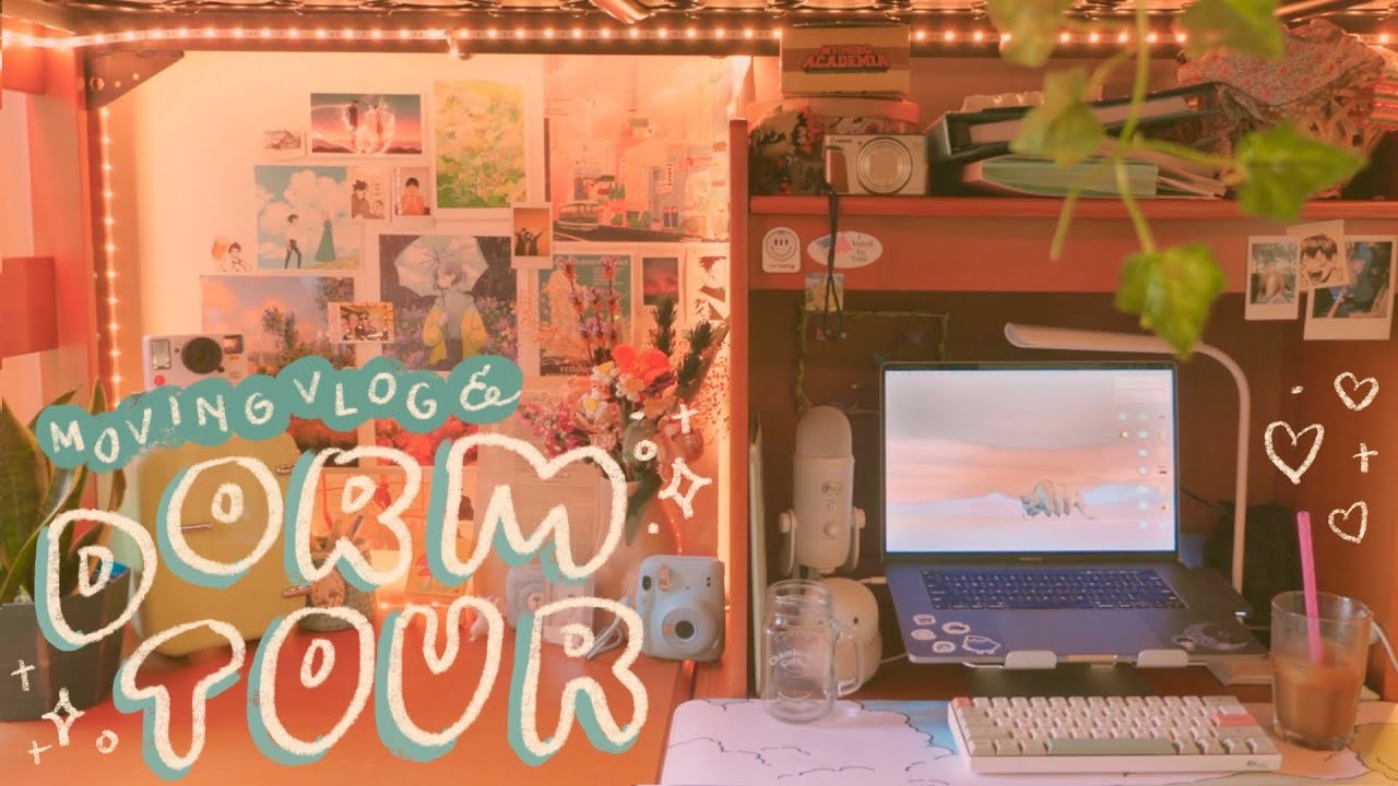 Download college dorm move-in vlog + apartment tour // unpacking, decorating, + settling in