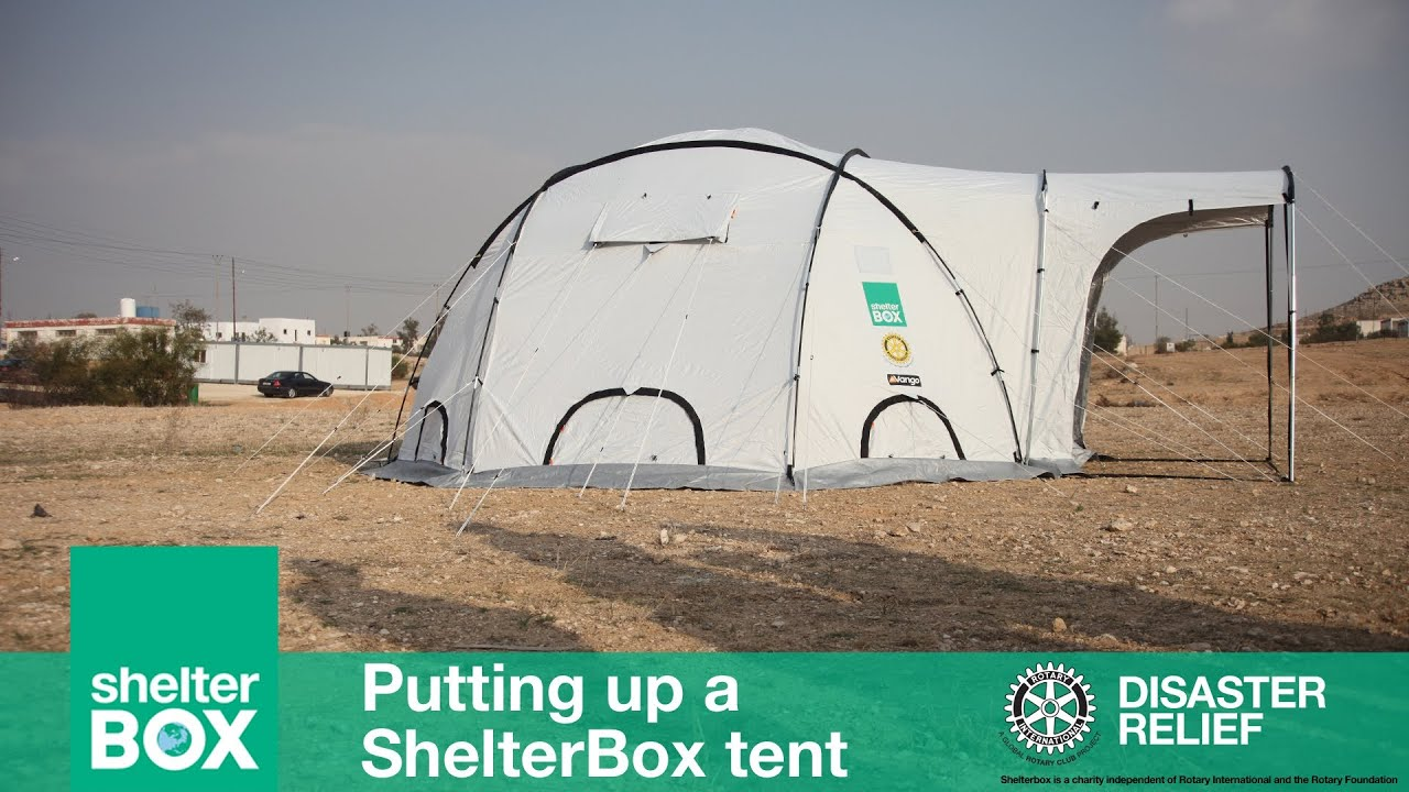 & ShelterBox: Putting up a ShelterBox tent - YouTube