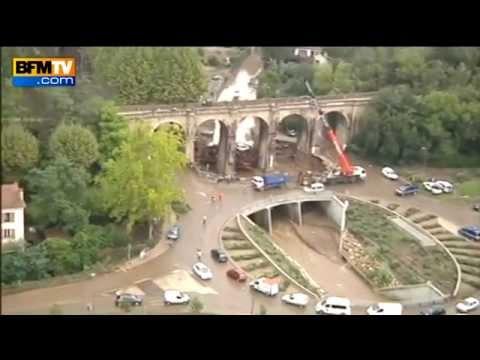 Hérault: les impressionnantes images des inondations