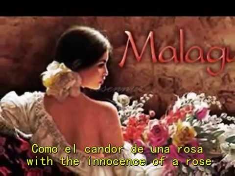 Plácido Domingo  ♥ Malagueña Salerosa ♥ Spanish+English