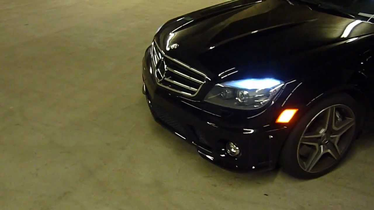 Mercedes W204 C63 Amg C300 C350 W204 Led Eyelid License Light No Error Code Youtube