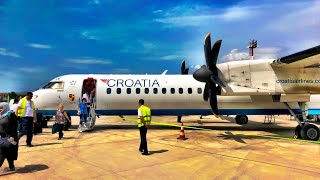 CROATIA AIRLINES: Domestic Business Class, Dash-8 Q400, Zagreb to Split Trip Report
