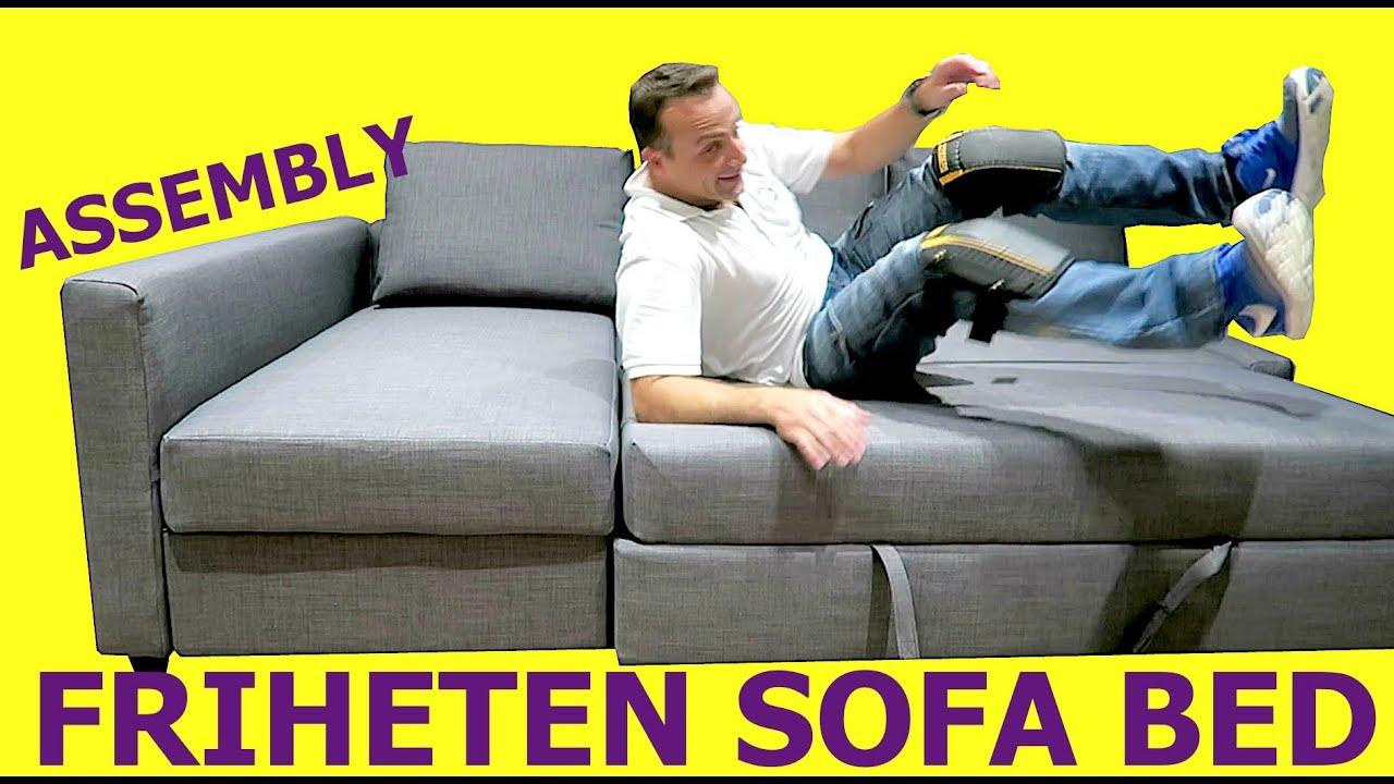 Ikea Friheten Sofa Bed Assembly Instructions Youtube