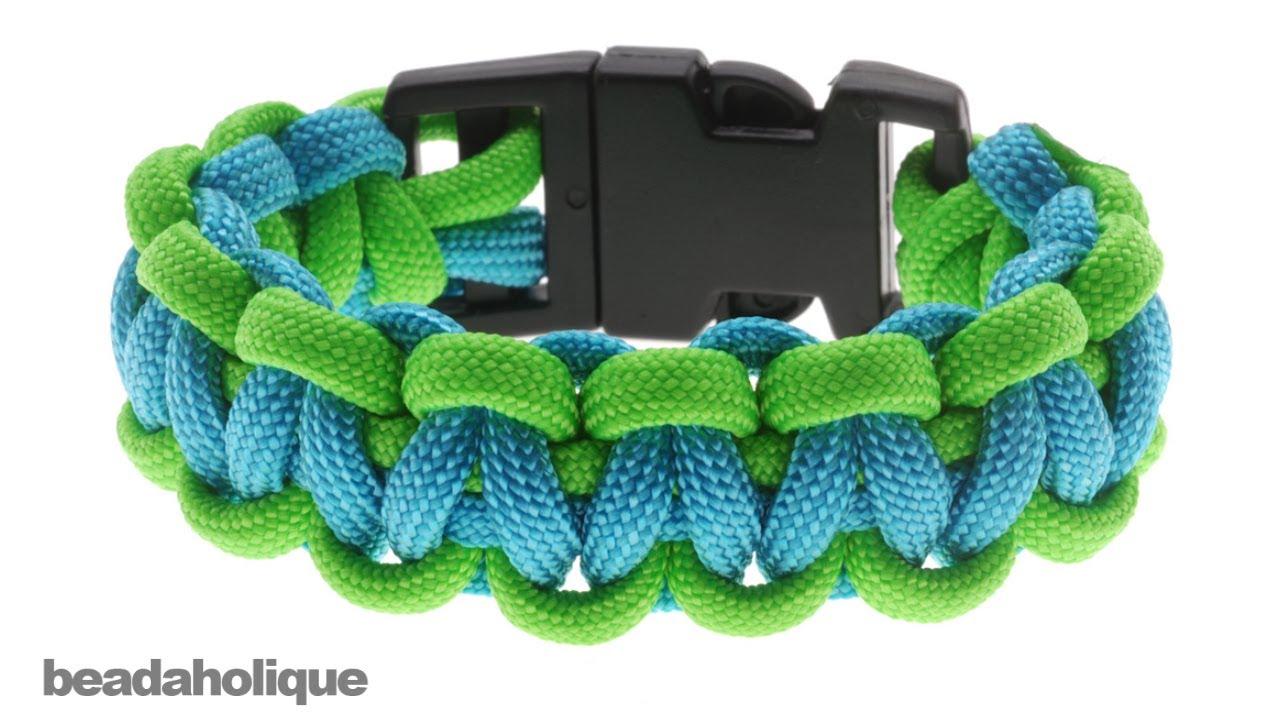 Préférence How to Make a Basic Cobra Paracord Bracelet - YouTube PL31