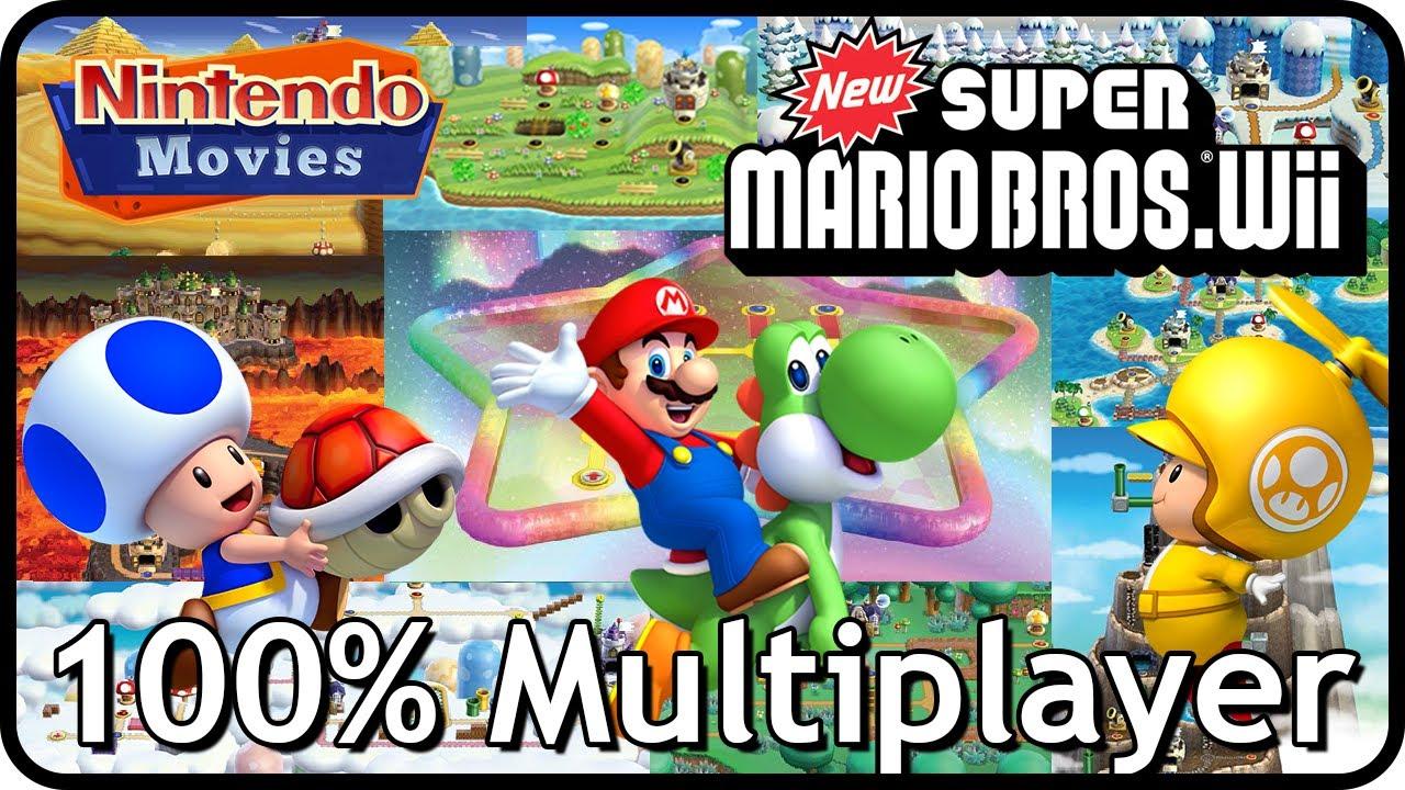 New Super Mario Bros Wii 100 Multiplayer Walkthrough