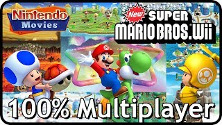 New Super Mario Bros Wii 100% Multiplayer Walkthrough (Full Game)