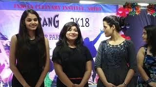 Indian Culinary Institute Fresher Party Aug 2018