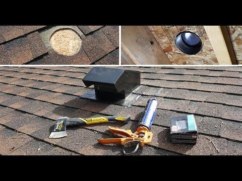 Vent Roof Cap Installation Diy Kolpak Vytyazhki Na Kryshe Youtube
