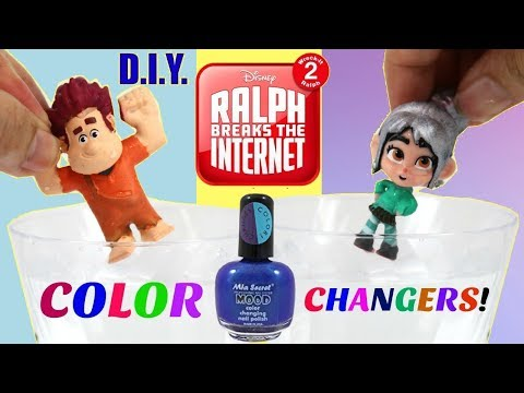 D.I.Y. Color Changing Wreck it Ralph 2 & Vanellope! Ralph Breaks the Internet