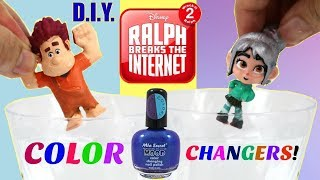 D.I.Y. Color Changing Wreck it Ralph 2 & Vanellope! Ralph Breaks the Internet Video