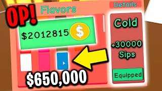 BUYING MOST EXPENSIVE FLAVOR (Roblox Hot Chocolate Simulator)