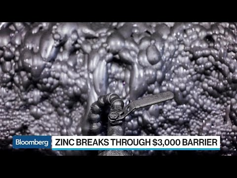 Zinc Pushes Past $3,000 a Ton on Supply Concerns