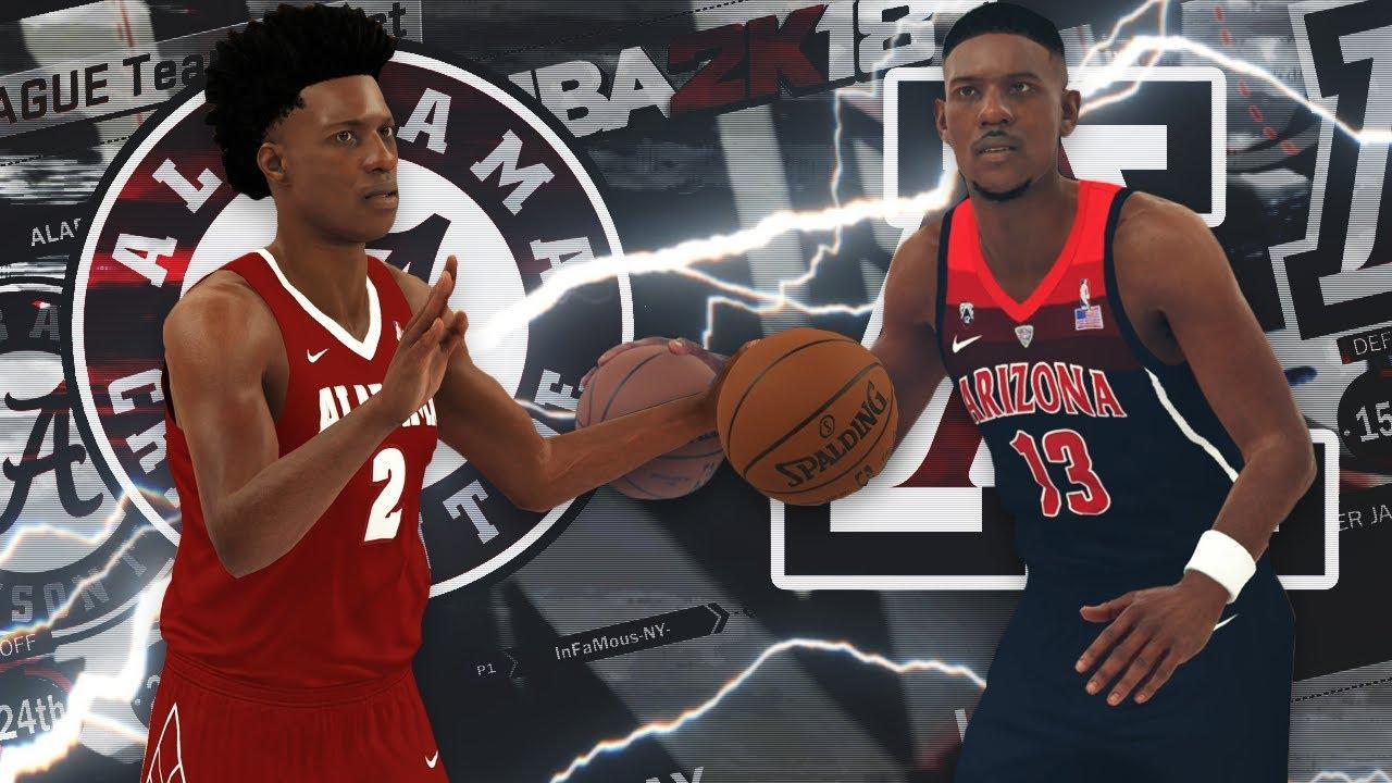 NBA 2K18 - NCAA 2K18 College Roster Gameplay Alabama vs. Arizona ... 1d951c72f