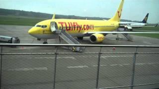 Memmingen Airport (Munich West) Arrival of Ryanair Edinburgh