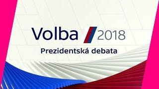 VOLBA PREZIDENTA 2018: Poslední superdebata kandidátů před prvním kolem volby!