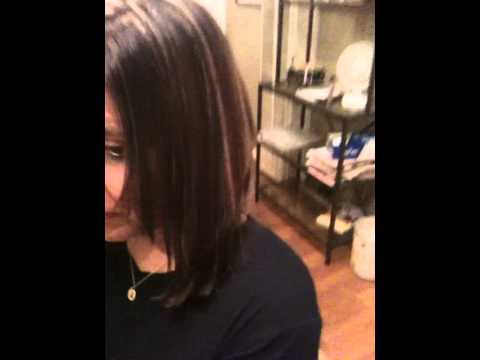 Red Brown Base Color And Copper Blonde Highlights Youtube