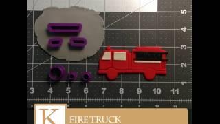 Fire Truck Cookie Cutter Set