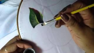 Pintura en tela hojas mantel # 1 con cony