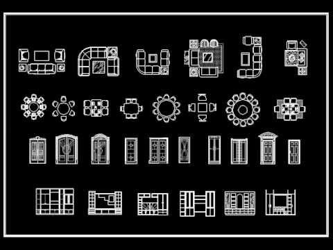 Autocad Block DownloadInterior design standard 2D Blocks .wmv