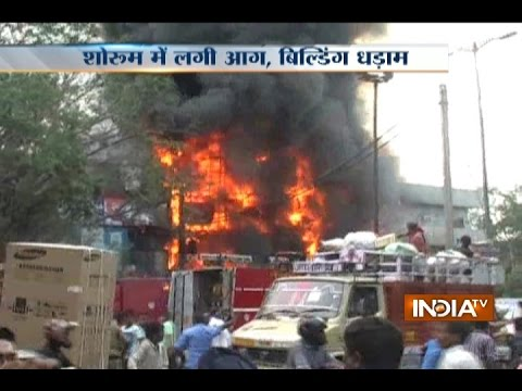 Fire Breaks Out at Hero Honda Bike Showroom in Delhi