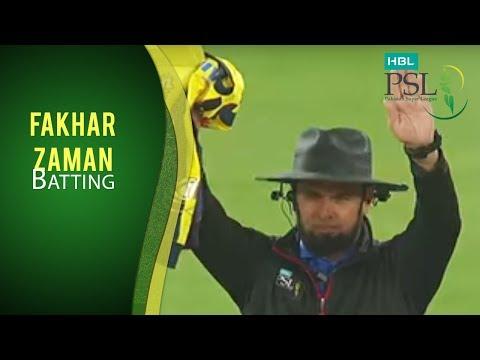 PSL 2017 Match 6: Peshawar Zalmi v Lahore Qalandars - Fakhar Zaman Batting