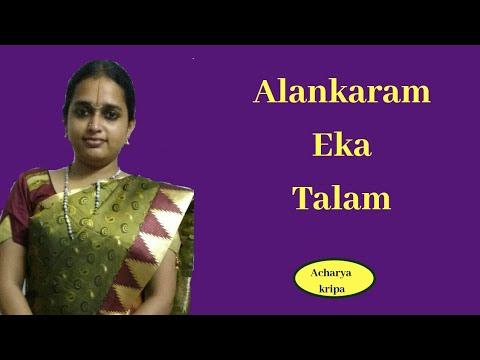 Alankara : Eka talam_ Carnatic music