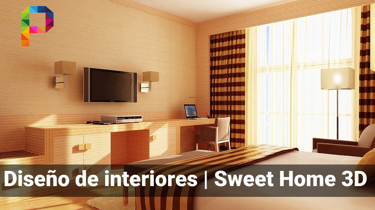 Hacer dise o de interiores en 3d sweet home 3d youtube for Software diseno de interiores gratis