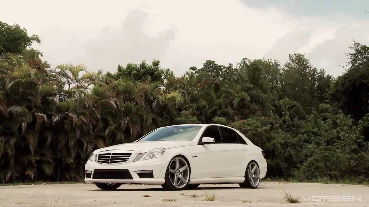 Mercedes Benz E63 On 20 Quot Vossen Vvs Cv3 Concave Wheels Rims Youtube