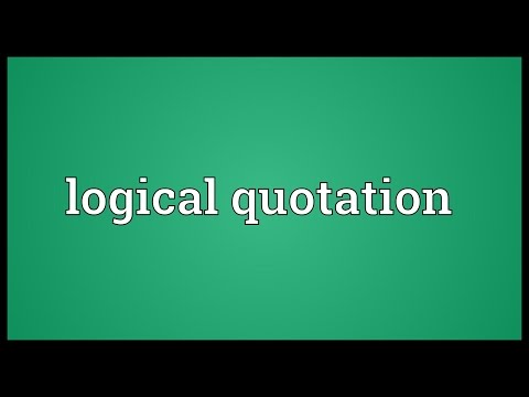 Logical quotation Meaning