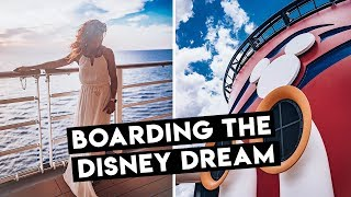 Boarding The Disney Dream in Port Canaveral For A SURPRISE CRUISE!