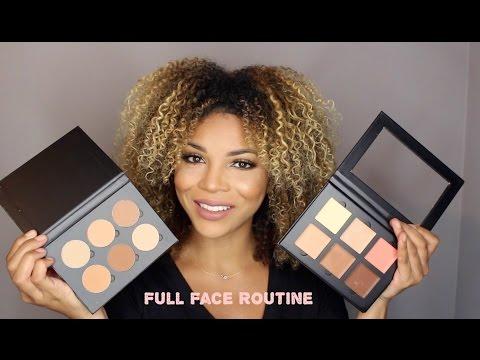 Full Face Using ABH Cream U0026 Powder Contour | DeniseAsiAm - YouTube