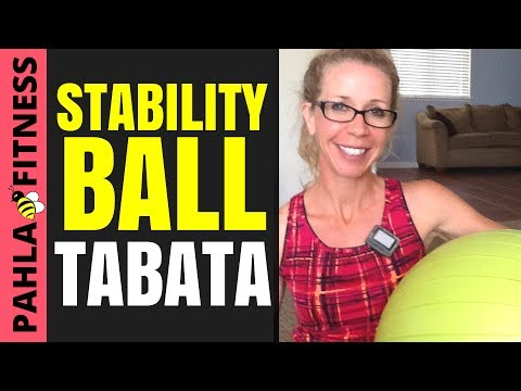22 Minute STABILITY BALL Tabata Workout | High Intensity, Full Body Strength for Runners