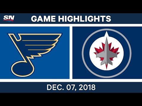 NHL Highlights | Blues vs. Jets - Dec 7, 2018