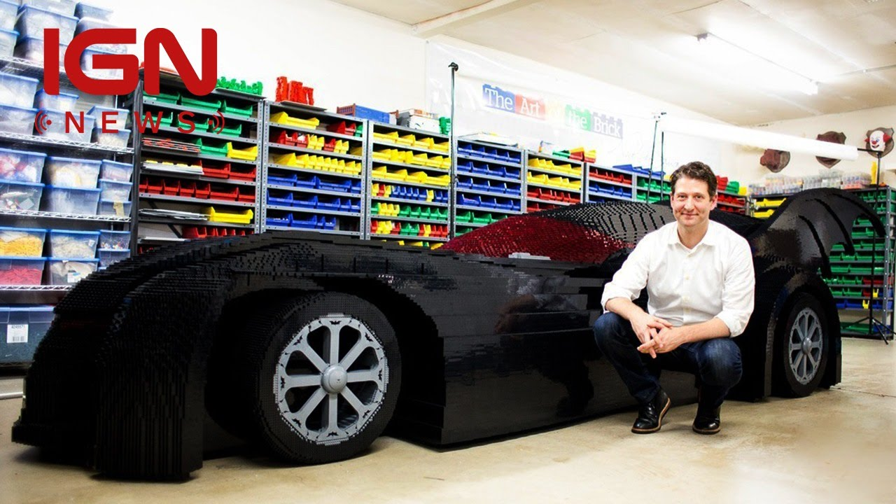 Real Life Lego House This Life Size Lego Batmobile Is Unbelievable Ign News Youtube