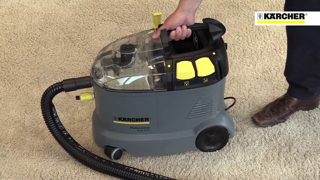 how to clean carpets with the karcher puzzi 8 1 c youtube. Black Bedroom Furniture Sets. Home Design Ideas