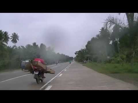 """How to Transport two 6""""x8""""x8' Timbers-Only in the Philippines...During a Rain.."""