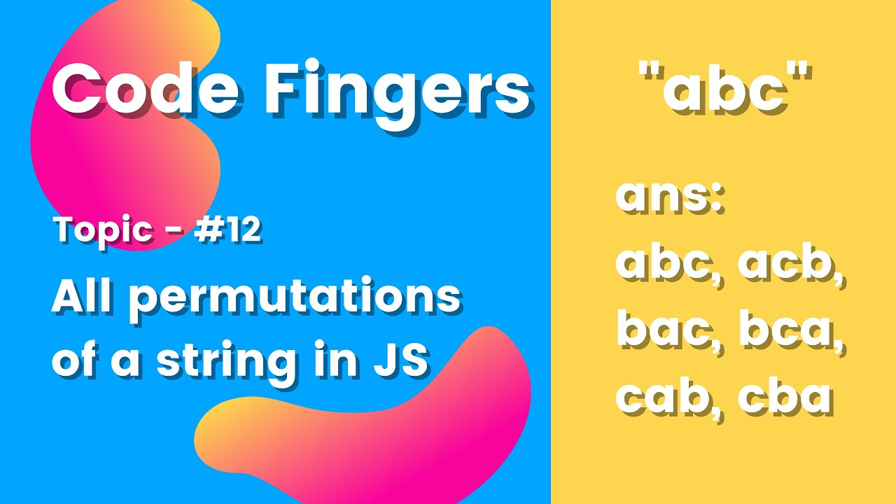 How to form All Permutations Of A String in JavaScript
