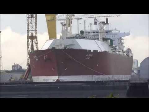 Massive AL ORAIQ CARGO SHIP in Belfast