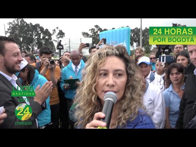 Soy Lucía Bastidas, estoy orgullosa de trabajar #24horasxBogotá 🌻2⃣4⃣💚