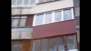 Наружная обшивка балкона сайдингом в Москве  | Правильные окна