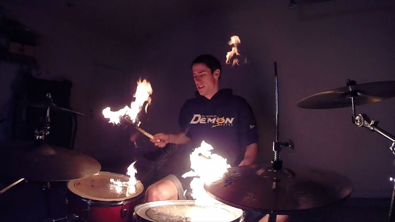 slow motion drumming with fire youtube. Black Bedroom Furniture Sets. Home Design Ideas