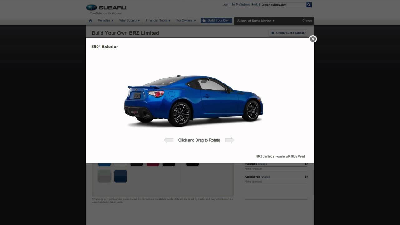 Build Your Own Subaru >> Build Your Own Subaru Html5 Car Configurator Youtube