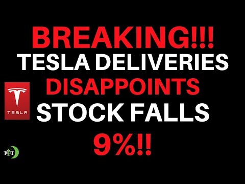 TESLA STOCK TUMBLES ON VEHICLE DELIVERY MISS!!! (HUGE SELL?)