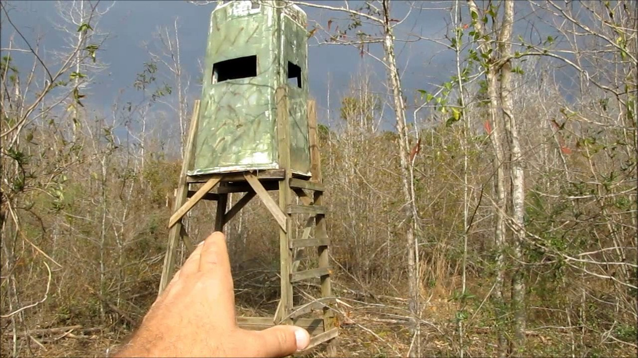 Setting Up Deer Stand Youtube