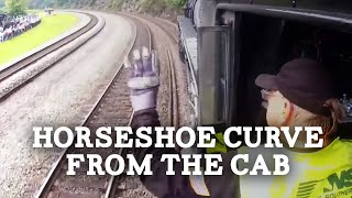 Horseshoe Curve from the Cab of a Steam Locomotive