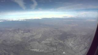 Los Angeles-to-Washington flight takeoff: view of South Bay, Dodgers Stadium, Barstow 2011-03-16