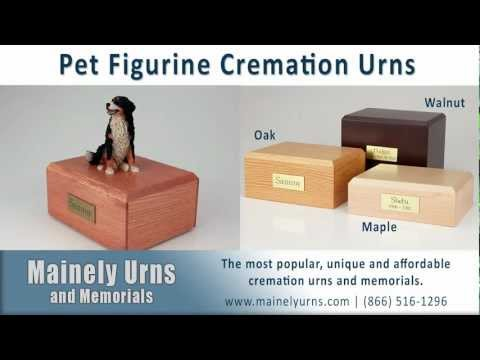 Figurine Pet Urns For Ashes - Wood Pet Cremation Urns